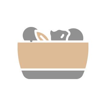 Нахут с патладжан и тиквички 350 гр