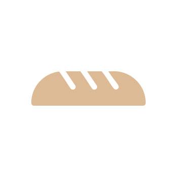 Филийка хляб с масло и чубрица 1 бр